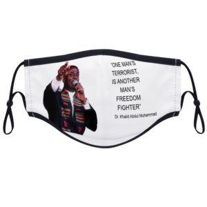 Freedom Fighter - (Dr. Khalid Muhammad) With Two Filters Customizable Face Cover Ordinary Face Cover for Women and Men