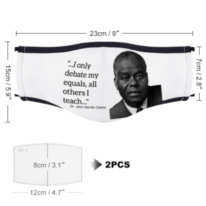 I only debate my equals - (Dr. John Henrik Clarke) With Two Filters Customizable Face Cover Ordinary Face Cover for Women and Men