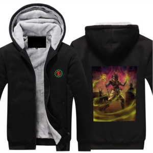 RBG Adinkra - Hoodie Full Zip Warm and Thick Plush Sweater Front and Back Print Offset Heat Transfer Print