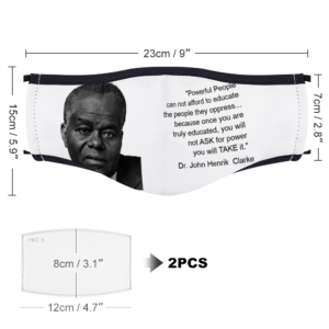 Powerful People - (Dr. John Henrik Clarke) With Two Filters Customizable Face Cover Ordinary Face Cover for Women and Men