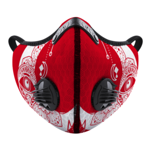Moon Eye (red-white)Customizable Face Cover Outdoor Dust Proof Face Cover