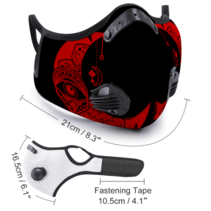 Moon Eye (Black-red) Customizable Face Cover Outdoor Dust Proof Face Cover