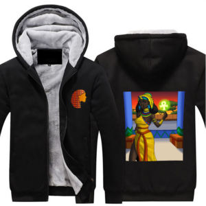 Hijab - Hoodie Full Zip Warm and Thick Plush Sweater Front and Back Print Offset Heat Transfer Print