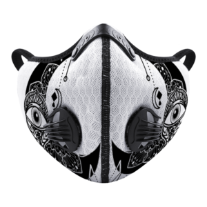 Moon Eye (white-Black) Customizable Face Cover Outdoor Dust Proof Face Cover
