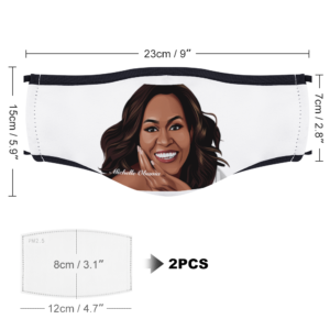 Michelle Obama With Two Filters Customizable Face Cover Ordinary Face Cover for Women and Men