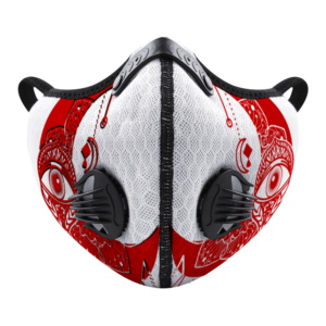 Moon Eye (white-red) Customizable Face Cover Outdoor Dust Proof Face Cover