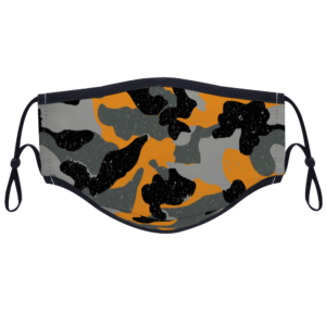 Black & yellow Camouflage - Custom Adjustable Face Cover with Two Filters Non-medical