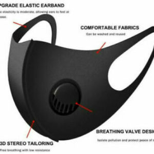 Reusable Breathable Face Mask With Breathing Valve