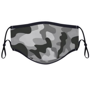 Digital Black Camouflage - Custom Adjustable Face Cover with Two Filters Non-medical